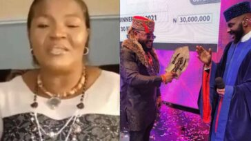 Whitemoney's Mother Reacts After Her Son Won BBNaija N90 Million Grand Prize [Video]