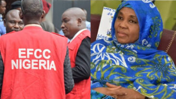 EFCC Arrests Governor Ganduje's Wife After Her Son Reported Her Over Fraud