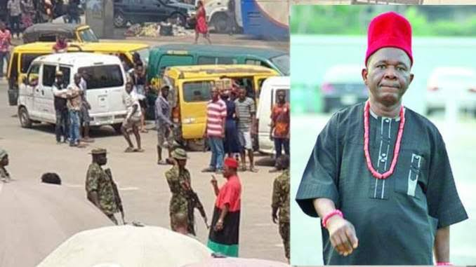 Actor Chiwetalu Agu Arrested And Assaulted By Soldiers For Wearing Biafra Regalia [Video]
