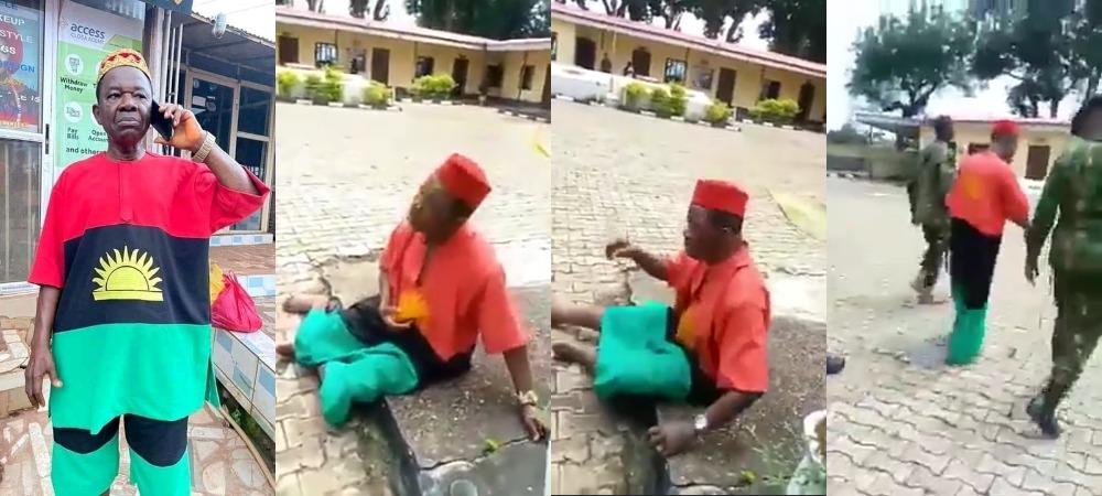 """My Attire Is Not IPOB Or Biafra, It's Rising Sun"" - Chiwetalu Agu Tells Soldiers [Video]"