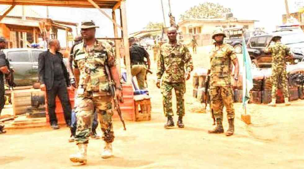 Three Persons Killed As Soldiers Raid Imo Community, Burn Over 50 Houses & Palace