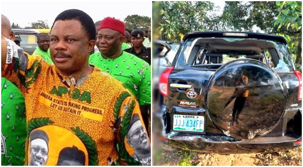Gunmen Attack APGA Rally In Anambra, Hold Governor Obiano's Convoy Hostage