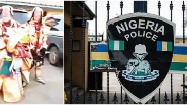 Police Arrests Two Masquerades For Allegedly Stealing Phone And N370,000 In Ondo