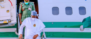 President Buhari Arrives South Arabia For Investment Summit