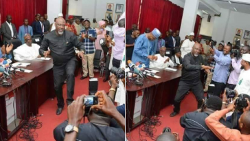 Atiku And Dino Melaye Surprises Audience With Dance Moves At PDP NEC Meeting [Video] 7