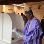 """""""I Will Congratulate Myself After The Election"""" – Buhari Says As He Casts Vote In Daura 13"""