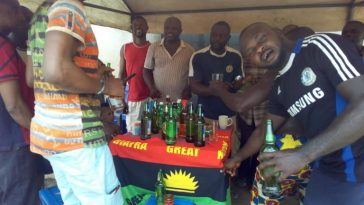 IPOB Members Seen Chilling With Beer During Elections Despite Calling Off Election Boycott [Photos] 9