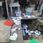 APC Thugs disrupt voting in Isolo / Ago Palace Way - PHOTONEWS 26