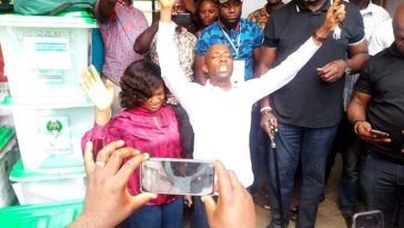 See What Akwa Ibom Speaker Did With Wife After He Was Declared Winner [Photos] 1