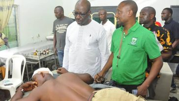 Governor Obaseki Visits APC Members Attacked During Elections In Edo [Photo] 1