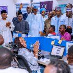 'Sai Baba' Chants Fill The Air As Buhari Visits Campaign Headquarters In Abuja [Photos] 9