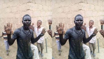 """""""I'm Not Dead"""" - Man Who Drank Gutter Water When Celebrating Buhari's Victory 1"""