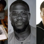 American Actor Kevin Hart Reaches Out To Young Nigerian Artist Who Drew Him [Photos] 8