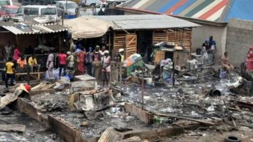 Primary School In Benue State Containing Electoral Materials Set Ablaze By Gunmen On Election Day 2