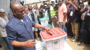 PHOTONEWS: Rivers State Governor Wike Casts His Vote. 7