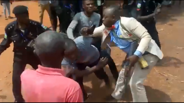 Police Officer Hired By Politicians For Illegal Duties During Election, Arrested After Attacking Lawmaker [Photos] 1