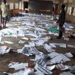 Election Materials Destroyed in Ikot Ekpene, Akwa Ibom. 11