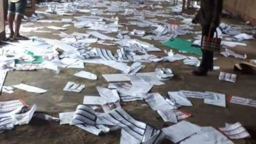 Election Materials Destroyed in Ikot Ekpene, Akwa Ibom. 1