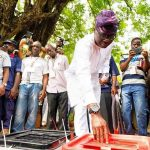 PHOTONEWS: Sanwo Olu Casts His Vote in Lagos state. 27