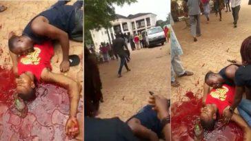 Man Shot Dead Inside House Of Senator Ayogu Eze, APC Guber Candidate Enugu [Photos/Video] 1