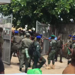 Nigerian Soldiers And Police Clash At INEC Office In Port-Harcourt [Photos/Video] 28