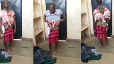 Man Steals Goat, Slaughters It And Wears It On His Body Like A Vest [Photos/Video] 6