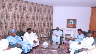Six APC Governors Meets Buhari And Osinbajo Over Inconclusive Elections [Photos] 3