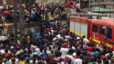 Many People, Including School Children Trapped As Three-story Building Collapses In Lagos [Photos/Video] 8