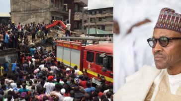 Buhari Expresses 'Extreme Sadness' Over The Building That Collapsed On School Children In Lagos 4