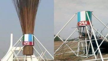 APC Finally Pulls Down Giant Broom At Abuja City Gate [Photos/Video] 2