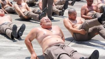 Overweight Police Officers Taken To Weight Loss Camp To Reduce Pot-Belly [Photos] 2