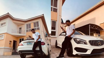 Mayorkun Gifts Himself N35 Million Benz Ahead Of His 25th Birthday [Photo] 2