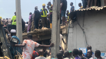 Another Building Collapses In Lagos Island - The Third In Two Weeks [Video] 5