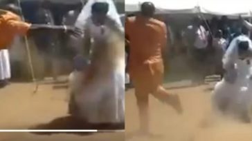 'Crazy' Groom Throws Sand On Bride's White Wedding Gown While Dancing [Video] 1
