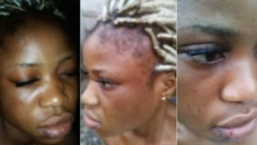 Police Officer Beats Girl Mercilessly For Refusing His Love Proposal In Delta State [Photos] 1