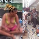 Confusion As Young Lady 'Runs Mad' And Strips Off Her Clothes In Lagos [Photos] 29