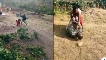 Woman Beats Her Husband Mercilessly In Public During Fight Over Money [Photos/Video] 3
