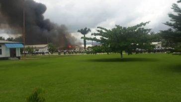 Pupils Unhurt As Fire Razes Navy Secondary School Hostel In Cross River 8