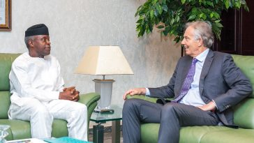 Former UK Prime Minister Tony Blair Meets With VP Osinbajo In Aso Rock 6